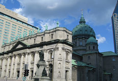 Church in Montreal. On sunny day royalty free stock photos
