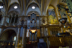 Church at the Montserrat Monastery Royalty Free Stock Images