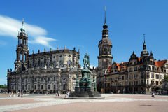 Church, Monument to King John and Dresden Castle Stock Image