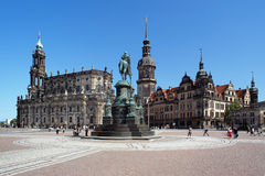 Church, Monument to King John and Dresden Castle Royalty Free Stock Photo