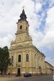 Church with the Moon - Oradea Royalty Free Stock Image
