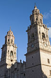 Church in Morelia, Mexico. Part of a church in Morelia, Mexico Royalty Free Stock Images