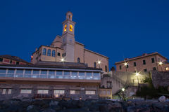 Church in morning. Church of Genoa Boccadasse during the sunrise Royalty Free Stock Photo