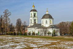 Church in Moscow park. Russia Royalty Free Stock Photos