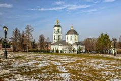 Church in Moscow park Royalty Free Stock Photos