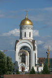 Church, Moscow, Russia. White chapel, it is photographed in Russia Royalty Free Stock Image