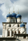Church, Moscow, Russia. Domes of ancient church, it is photographed in Russia Stock Photo