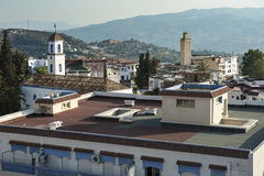 Church and mosque in Chefchaouen Royalty Free Stock Image