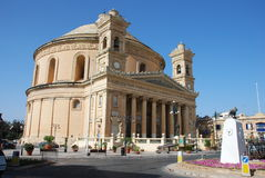 Church in Mosta. A church in the Maltese town of Mosta with a huge rotunda Stock Images