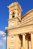 Church in Mosta,Malta. World famous cathedral in Mosta,Malta island royalty free stock photos