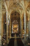 Church of Mosteiro dos Jeronimos in Lisbon. Stock Images
