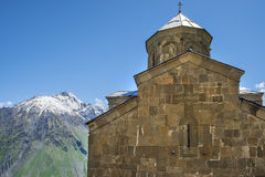 Church of the Mother of God in Ananuri fortress in Georgia Stock Photography