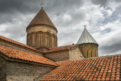 Church of the Mother of God in Ananuri fortress in Georgia Royalty Free Stock Images