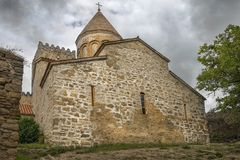 Church of the Mother of God in Ananuri fortress in Georgia Royalty Free Stock Photo