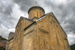 Church of the Mother of God in Ananuri fortress in Georgia Royalty Free Stock Photography