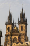 The Church of Mother of God in front of Týn Stock Photography