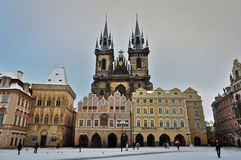 The Church of Mother of God in front of Tyn in Prague, Czech Republic Stock Images