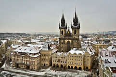 The Church of Mother of God in front of Tyn in Prague, Czech Republic royalty free stock photography