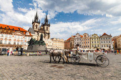 The Church of Mother of God in front of Tyn in Prague Stock Photo