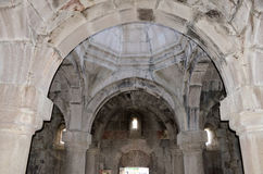 The Church of the mother of God inside the medieval Goshavank monastery Royalty Free Stock Image
