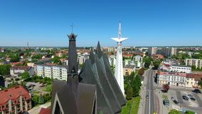 Church of the mother of God - queen of Poland stock video footage
