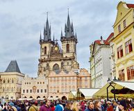 The Church of Mother of God before Tyn, Prague, Czech Republic royalty free stock photos