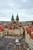 Church of Mother of God before Tyn. Prague Stock Photos