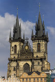 The Church of Mother of God before Tyn in Prague Royalty Free Stock Photography