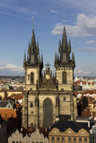 The Church of Mother of God before Tyn in Prague Royalty Free Stock Photos