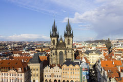 The Church of Mother of God before Tyn in Prague Stock Photos