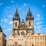 Church of Mother of God before Tyn in Prague royalty free stock photography