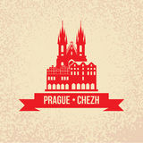 The Church of Mother of God before Tyn The symbol of Prague, Che Stock Image
