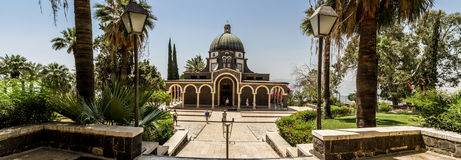 Church of Mount of Beatitudes, Sea of Galilee in Israel Royalty Free Stock Photos
