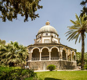 Church of Mount of Beatitudes, Sea of Galilee in Israel Stock Photography