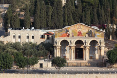 The Church on the Mount of Olives Stock Photos