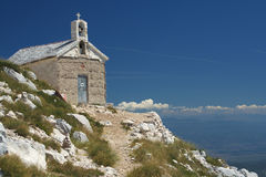 Church on the Mount St. Jure. Church at Mount St. Jure.  Biokovo national park in Croatia Royalty Free Stock Image