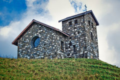 Church on mountain Royalty Free Stock Image