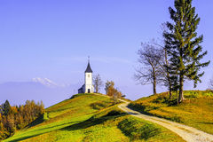 Church on mountain Royalty Free Stock Photo
