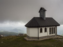 Church. On mountain Matajur near border Italia Slovenia Stock Photography