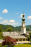 Church in mountain village Stock Photography