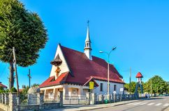 Church in the mountain village. Royalty Free Stock Images