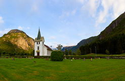 Church in the mountains Stock Photo
