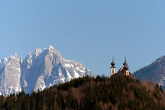 Church in the mountains Stock Photography