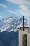 Church in the mountains Stock Image
