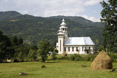 Church in the mountains. Orthodox church in the mountains, Maramures, Romania Stock Image