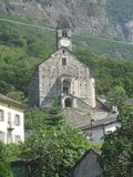 A church in the mountains. A picture of a church in the mountains taken during a daytrip on a vacation in the summer Royalty Free Stock Photography
