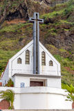 Church in the mountains in sunny weather on the island of Madeira Royalty Free Stock Photography