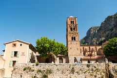 Church in Moustiers st marie Royalty Free Stock Images