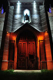 Church. Multicolor iluminated church Royalty Free Stock Images