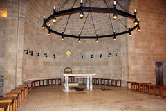 Church of the Multiplication of the loaves and fish, Tabgha, Israel. Interior of the Church of the Multiplication of the loaves and fish is located in Tabgha ( stock photo